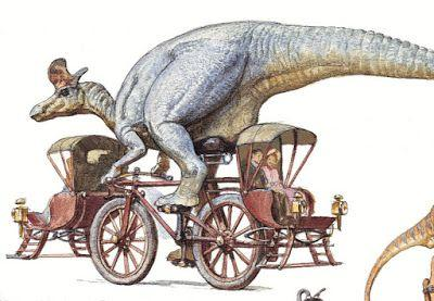 A Dinosaur on a Bicycle