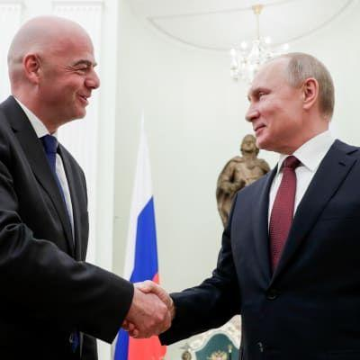 Infantino and Putin discuss World Cup legacy and continued support for Russian football