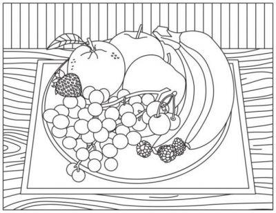 Relieve Stress and Promote Fruit with Brand-New Coloring Pages
