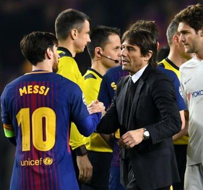 'Messi was the difference' - Conte claims Chelsea were 'unlucky' against Barcelona