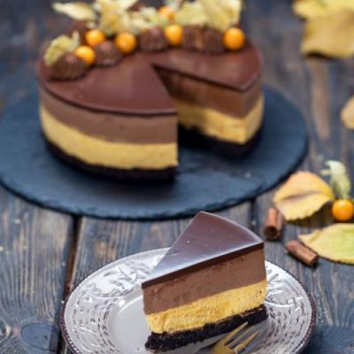 Chocolate Pumpkin Mousse Cake