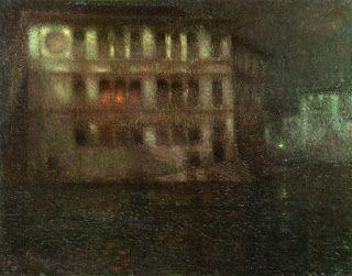 Henri Le Sidaner, The Old Palace, Moonlight, Venice