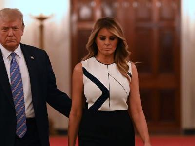 Donald and Melania Trump requested mail-in ballots for elections in Florida, despite Trump's insistence the system is rigged