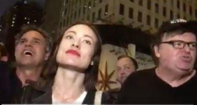 Mark Ruffalo, Michael Moore, Olivia Wilde Protest Outside Trump Tower: 'Trump is Not America!'