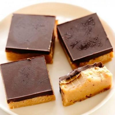 Vegan Peanut Butter Buckeye Bars