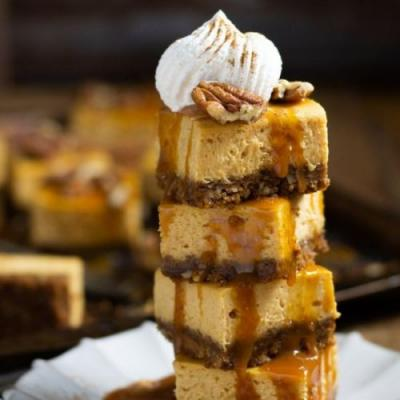 The Easiest Pumpkin Cheesecake Bars