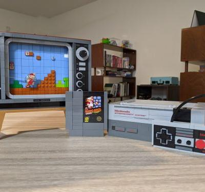 Got five minutes? Watch us put together the LEGO NES set