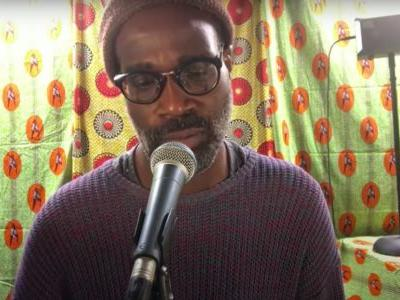 """Watch TV On The Radio's Tunde Adebimpe Perform A Solo Loop-Pedal """"Love Dog"""" On Colbert"""