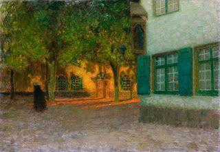 Henri Le Sidaner, The House with the Green Shutters, Bruges