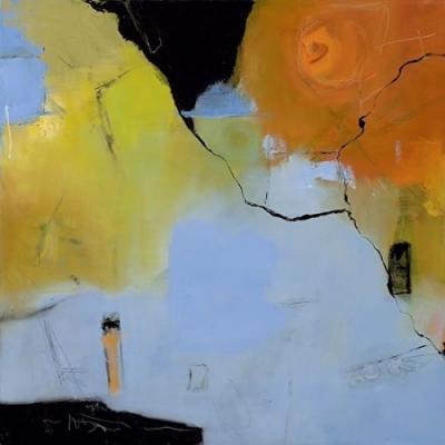 """Abstract Art, Expressionism, Contemporary Painting """"Time For a Change"""" by Contemporary Artist Maggie Demarco"""