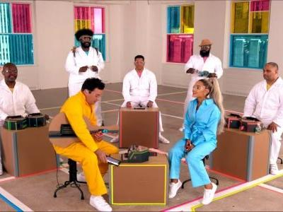 Watch Ariana Grande And Jimmy Fallon Perform Together With Nintendo Labo Instruments
