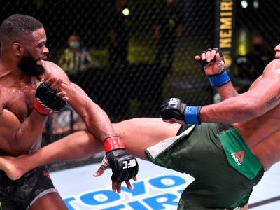 UFC: Gilbert Burns whips Tyron Woodley in unanimous decision