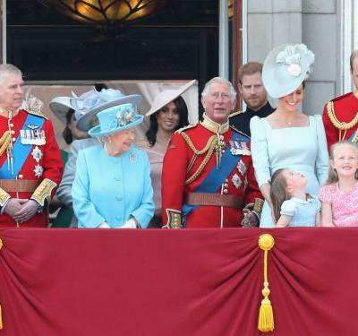 Princess Charlotte took a mini tumble on the balcony of Buckingham Palace - but Kate Middleton came to her rescue