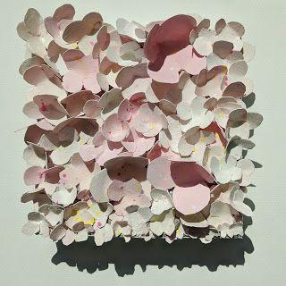 """Floral Paper Sculpture, Collage """"IN BLOOM"""