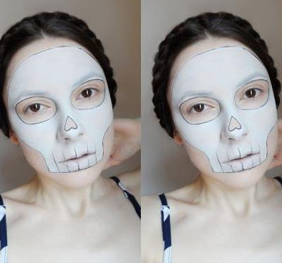 Easy And Fast Halloween Makeup | Minimal Skull