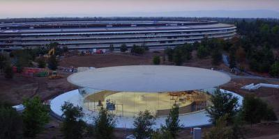 Take a look inside Steve Jobs Theater with the latest Apple Park drone tour