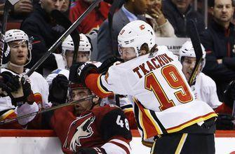Jon Gillies makes 35 saves, Flames beat Coyotes 5-2