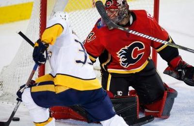Flames shut out in Jagr's return against Preds