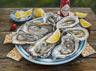 Raw Oysters and Tabasco Sauce - Sold