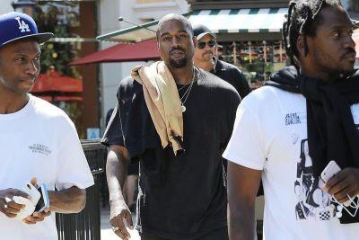 Kanye West Seen Wearing Unreleased All-Black Yeezy Runners
