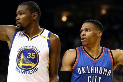 Durant-Westbrook talk leaves Steph Curry giving himself a high five