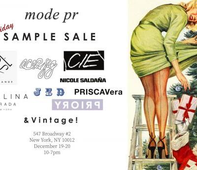 Mode pr 2-Day Holiday Sample Sale, Dec. 19-20 - New York, NY