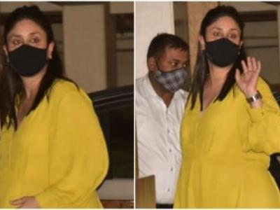 Kareena Kapoor is a stunning mommy-to-be in yellow midi dress with son Taimur Ali Khan