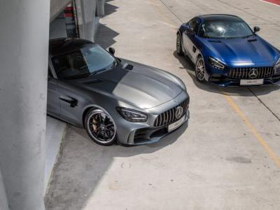 The Mercedes-AMG GT R and Mercedes-AMG GT C square off