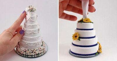 Hold on to your wedding memories forever with these beautiful miniature wedding cakes