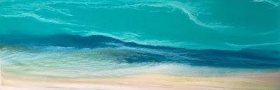 "Contemporary Seascape, Ocean Wave Art, Abstract Seascape, Caribbean, Coastal Decor Art ""Caribbean Waters III"