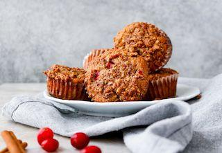 Cinnamon Tea Cranberry Muffins