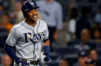 Brandon Lowe records 1st career hit, Rays even series with Yanks