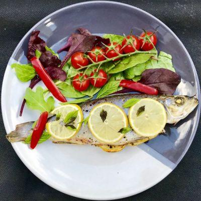 Aromatic Baked Sea Bass