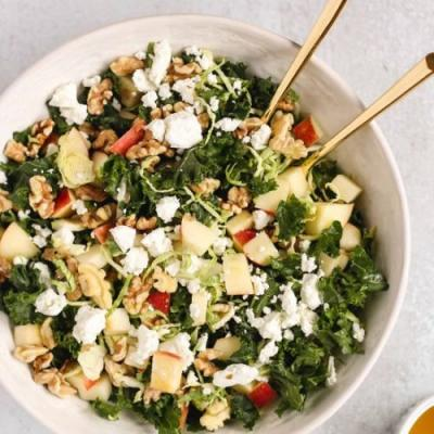 Kale and Brussels Sprouts Salad