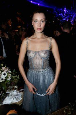 NSFW: Bella Hadid Went Out Last Night in Paris with Her Breasts Fully Out