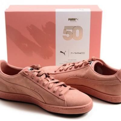MAC x PUMA Suede 50 Sneakers in Crème d'Nude & Sin Photos