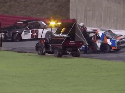 Police Officer Pulls Gun on Driver Who Rammed Another Car Under Caution at Local Race Track