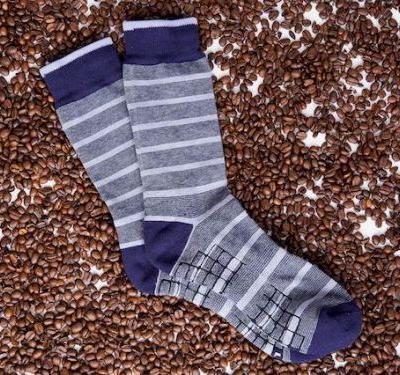 These dress socks have odor-absorbing coffee in them to keep your feet smelling and feeling fresh all day