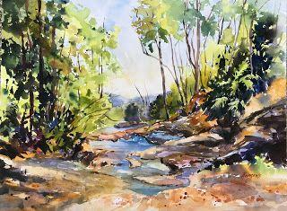 Springbrook Glory..Watercolor..Texas Artist..Rae Andrews