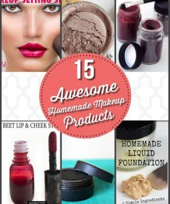 15 Awesome Homemade Makeup Products