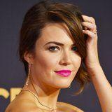 You Know You're Wondering What Mandy Moore's Bold Emmys Lipstick Is