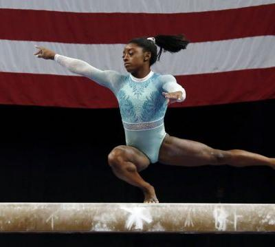 Gymnast Simone Biles dresses 'for the survivors' while winning 5th US title