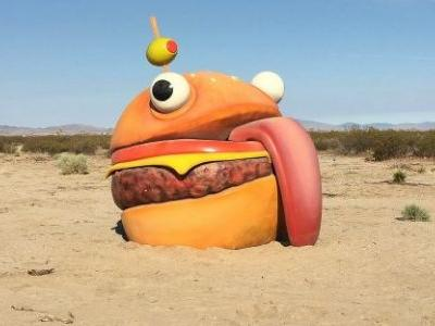 Real-world Fortnite Durr Burger found in the desert with other mysterious props