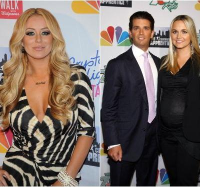 Pop star Aubrey O'Day posted a photo of her 'babe's' feet in 2012 - and there's a new conspiracy that it's evidence of an affair with Donald Trump Jr