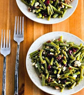 Green Bean Salad with Blue Cheese, Cranberries, and Pecans