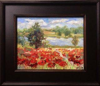 "New ""Peaceful Poppies"" Palette Knife Painting by Niki Gulley"