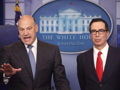 The Goldman guys in the White House hinted their tax plan has some gifts for Wall Street