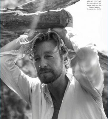Simon Baker Poses for Harper's Bazaar Australia, Talks 'Breath'