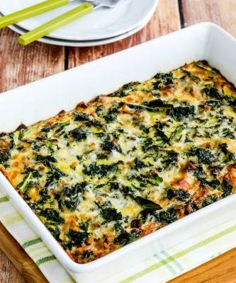 Kale and Red Onion Savory Breakfast Squares