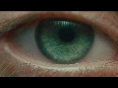 In Blade Runner 2049, whose eye opened in the first shot?